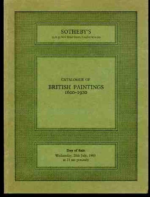 Image for Sotheby's Catalogue of British Paintings 1600-1920