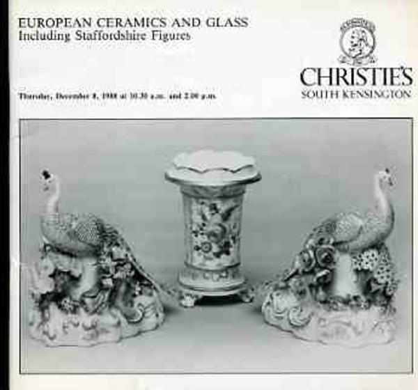 Image for European Ceramics and Glass Including Staffordshire Figures