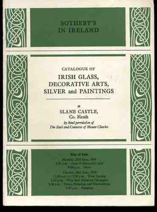 Image for Catalogue of Irish Glass, Decorative Arts, Silver and Paintings