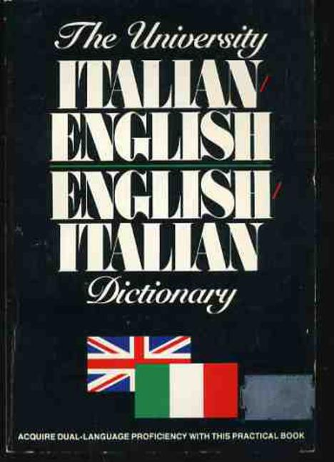 Image for The University Italian-English English-Italian Dictionary