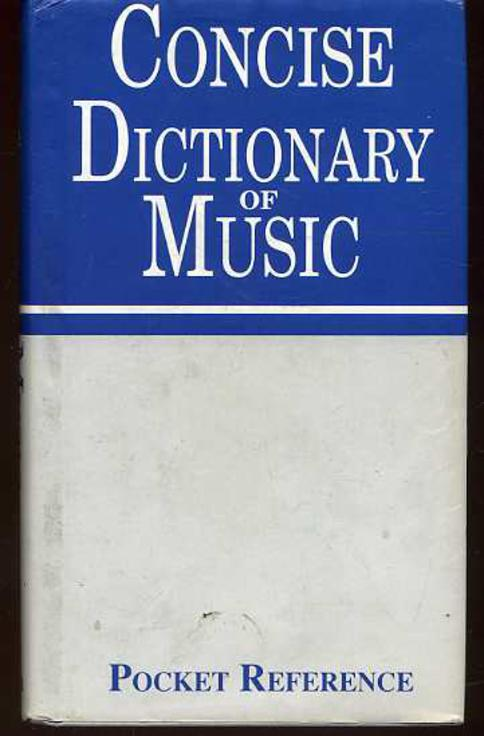 Image for Concise Dictionary of Music