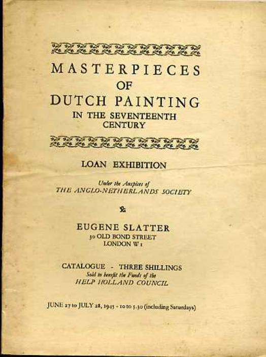 Image for Masterpieces of Dutch Painting in the Seventeenth Century