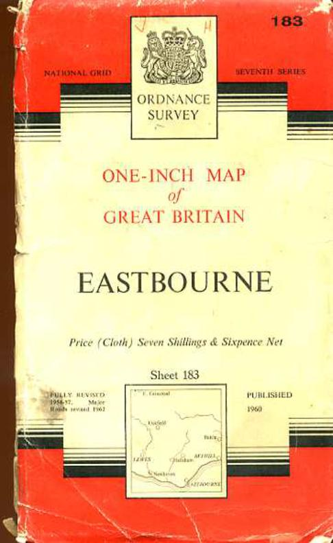 Image for Ordnance Survey One-Inch Map of England & Wales Sheet 183 Eastbourne
