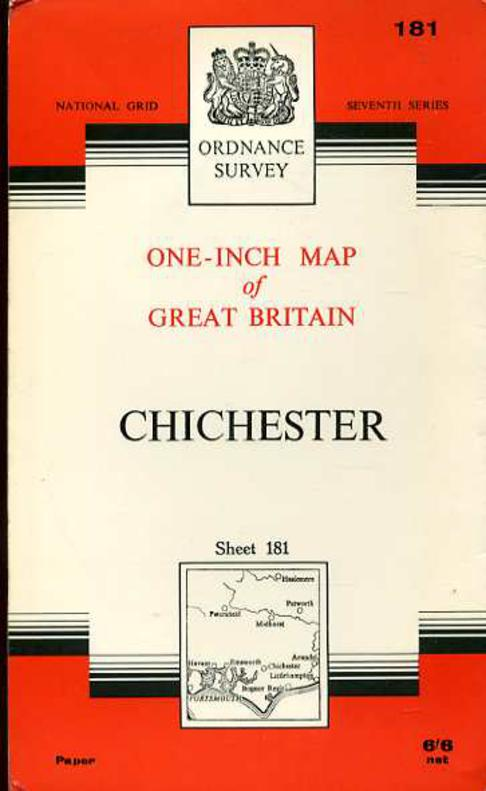 Image for Ordnance Survey  One-Inch Map of Great Britain Sheet 181 Chichester