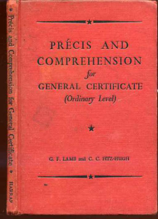 Image for Precis and Comprehension for General Certificate ( Ordinary Level )