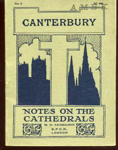 Image for Canterbury - Notes on the Cathedrals No 2