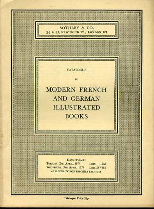 Image for Catalogue of Modern French & German Illustrated Books
