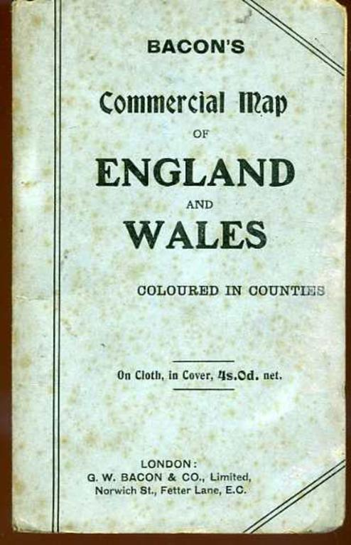 Image for Bacon's Commercial Map of England and Wales : Coloured in Counties
