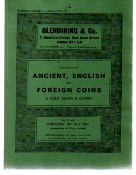 Image for Catalogue of Ancient, English and Foreign Coins in Gold, Silver and Copper