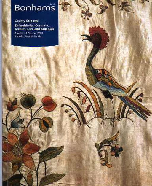 Image for Catalogue for the County Sale and Embroideries, Costume, Textiles, Lace and Fans Sale