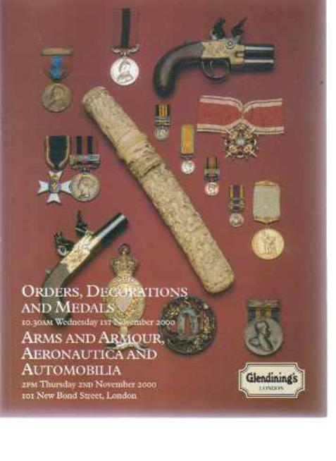 Image for Orders, Decorations And Medals : Arms And Armour Aeronautica and Automobilia