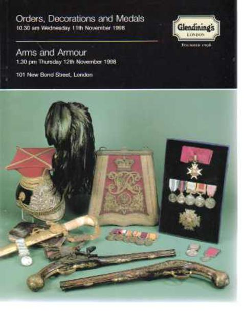 Image for Glendining's Sales Catalogue - Orders Decorations and Medals  & Arms and Armour 11th  & 12th November 1998