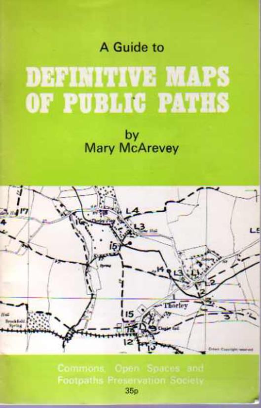 Image for A Guide to Definitive Maps of Public Paths