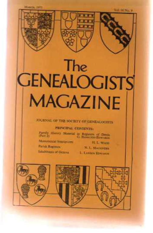 Image for The Genealogists' Magazine - Vol 16 No 9 March 1971
