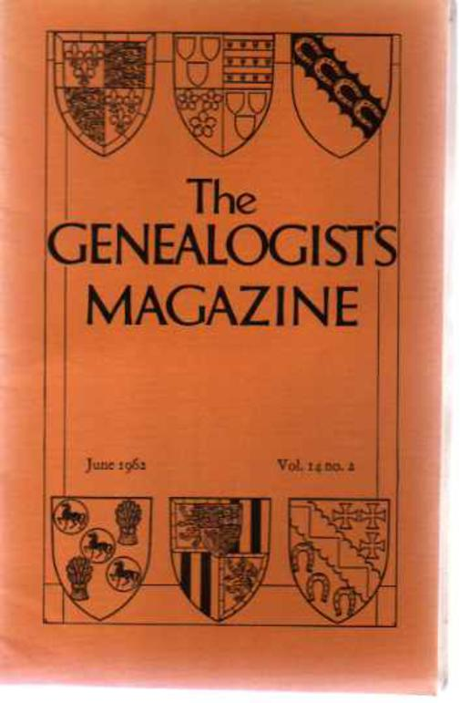 Image for The Genealogists' Magazine - Vol 14 No 2, June 1962