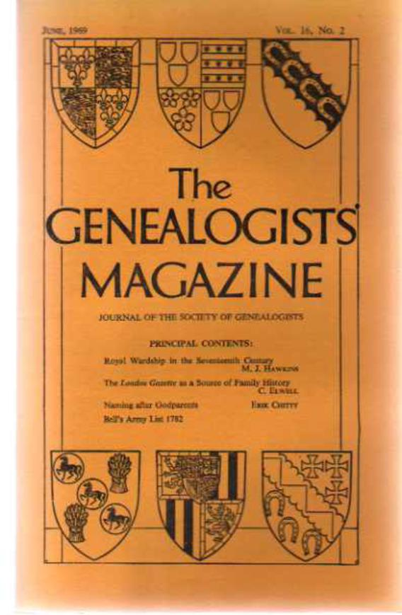 Image for The Genealogists' Magazine - Vol 16 No 2, June 1969