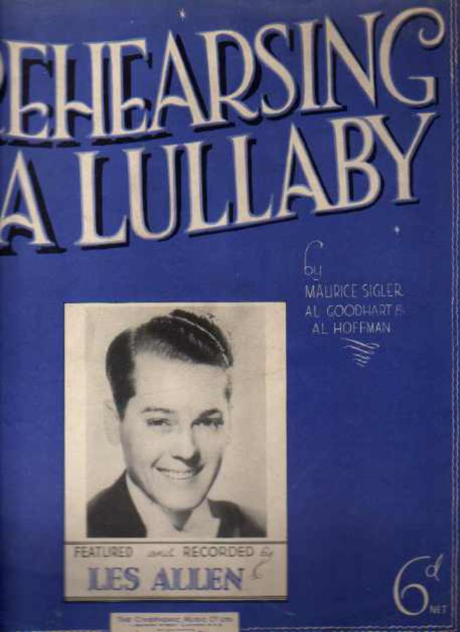 Image for Rehearsing a Lullaby (sheet music)