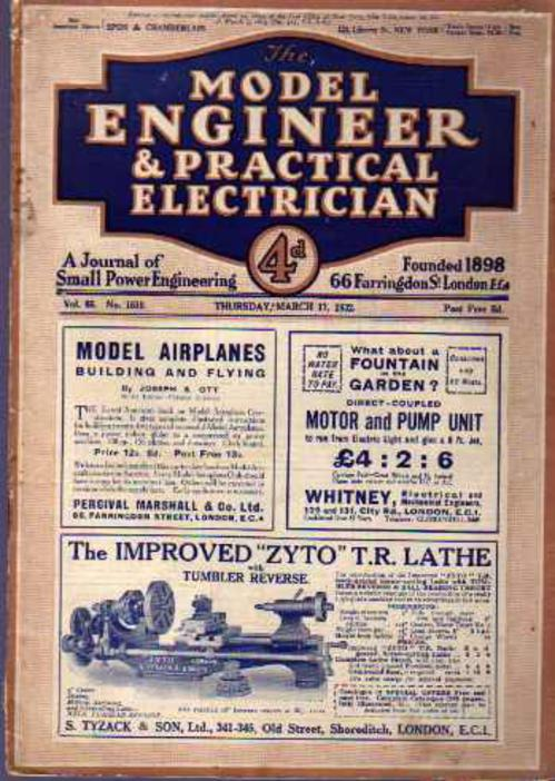 Image for The Model Engineer & Practical Electrician  Vol 66 No 1610 Thursday March 17, 1932
