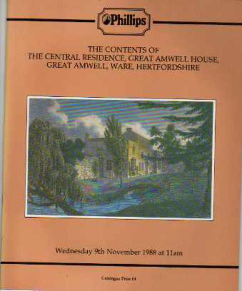 Image for The Contents of the Central Residence, Great Amwell House