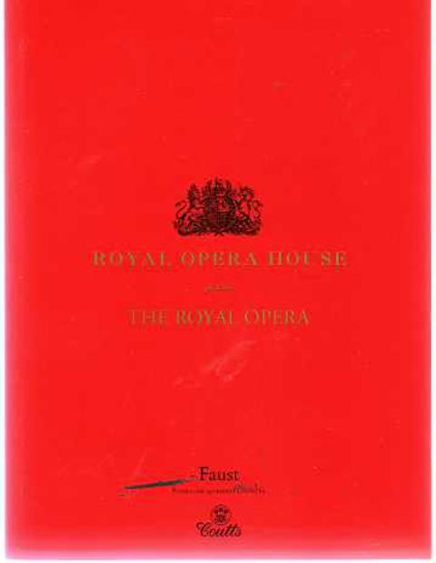 Image for Programme for Faust an Opera - Royal Opera House, Covent Garden September 2006