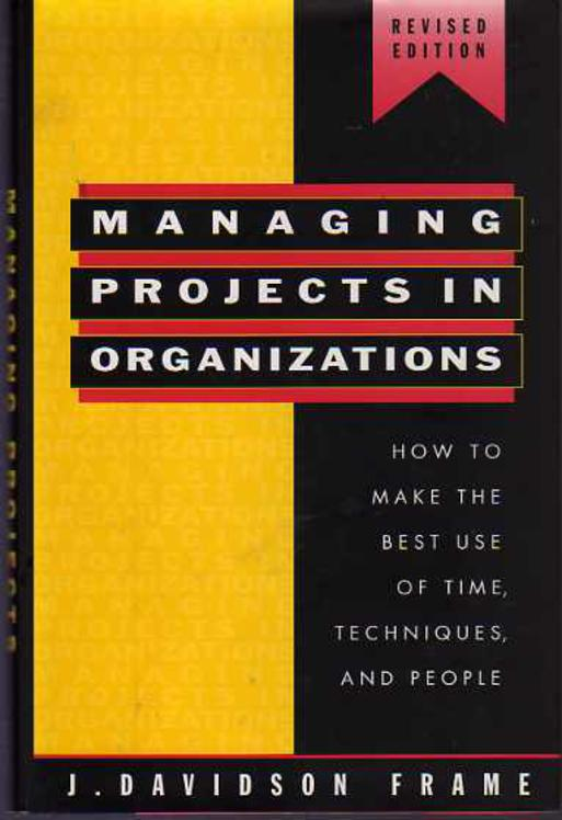 Image for Managing Projects in Organizations : How to Make the Best Use of Time, Techniques, and People