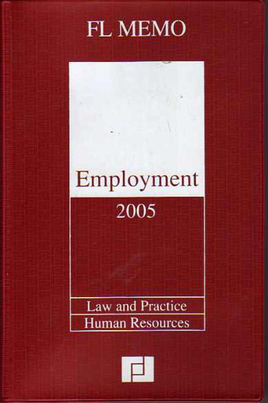 Image for Employment 2005 : Law and Practice,Human Resources