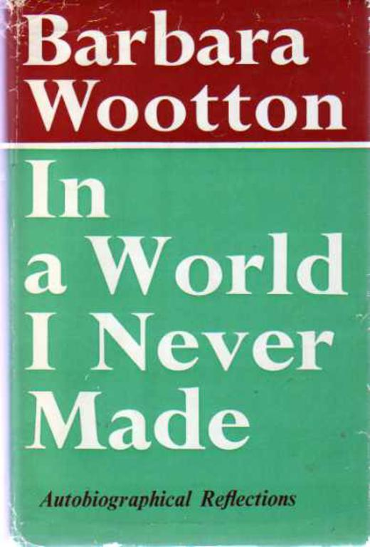 Image for In a World I Never Made : Autobiographical Reflections (SIGNED COPY)