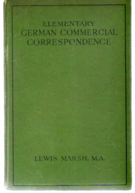 Image for Elementary German Commercial Correspondence