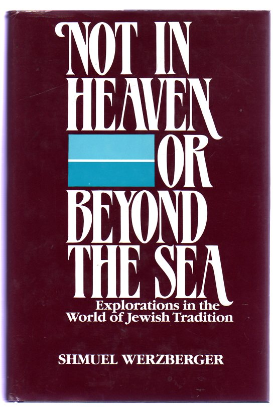 Image for Not in Heaven or Beyond the Sea : Explorations in the World of Jewish Tradition