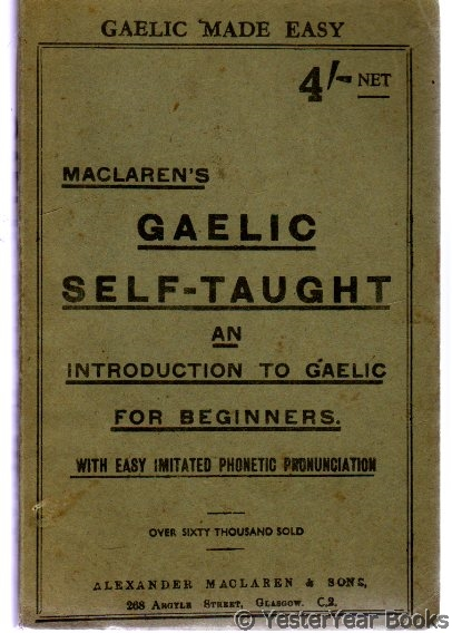 Image for Maclaren's Gaelic Self-Taught - an Introduction to Gaelic for Beginners