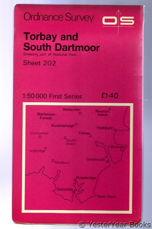 Image for Ordnance Survey Sheet 202 Torbay and South Dartmoor
