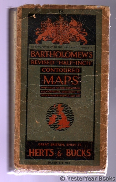 "Image for Bartholomew's Revised ""Half-Inch"" Contoured Maps - Great Britain, Number  15 Herts & Bucks"