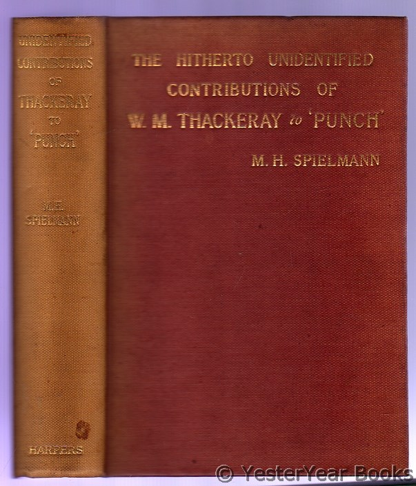 "Image for The Hitherto Unidentified Contributions of W.M. Thackeray to ""Punch"""