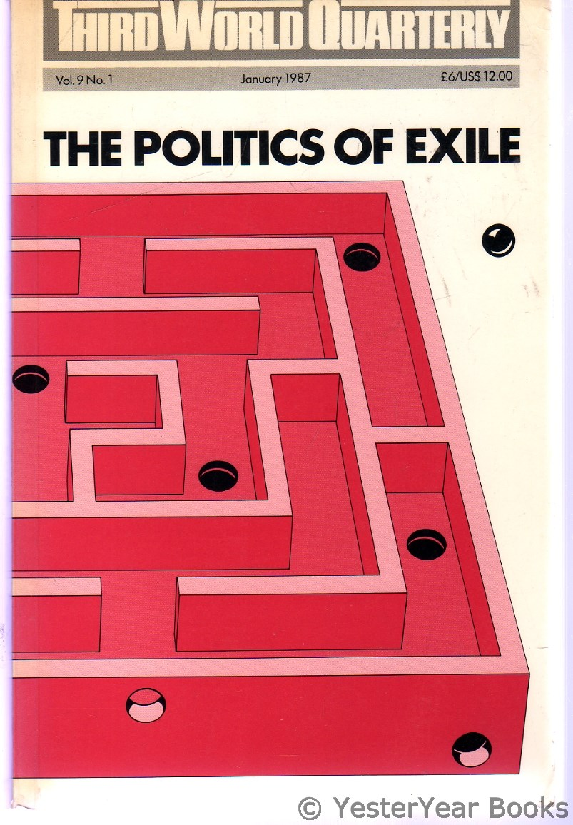 Image for Third World Quarterly Volume 9 No. 1 : The Politics of Exile