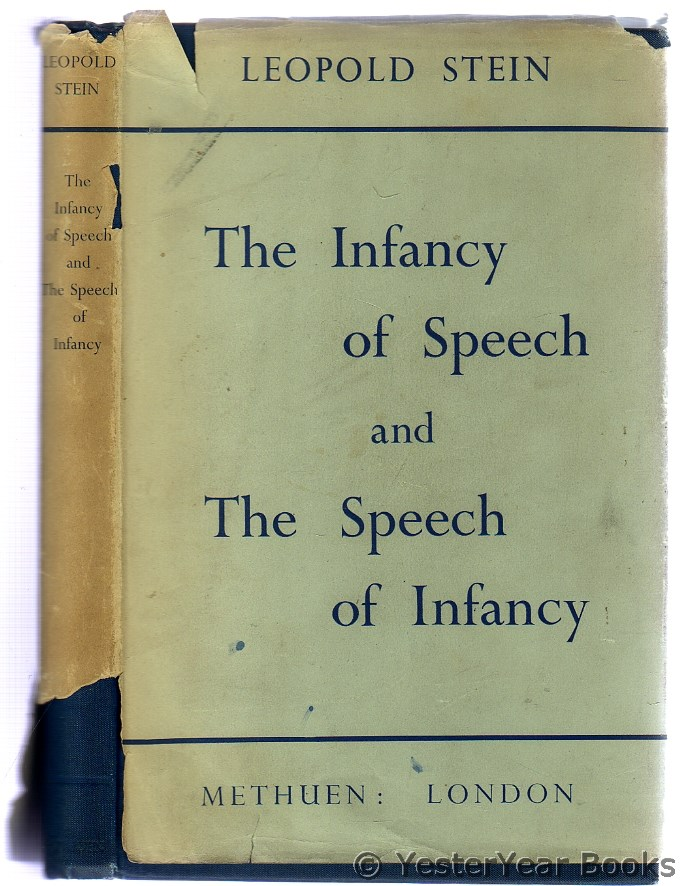 Image for The Infancy of Speech and the Speech of Infancy