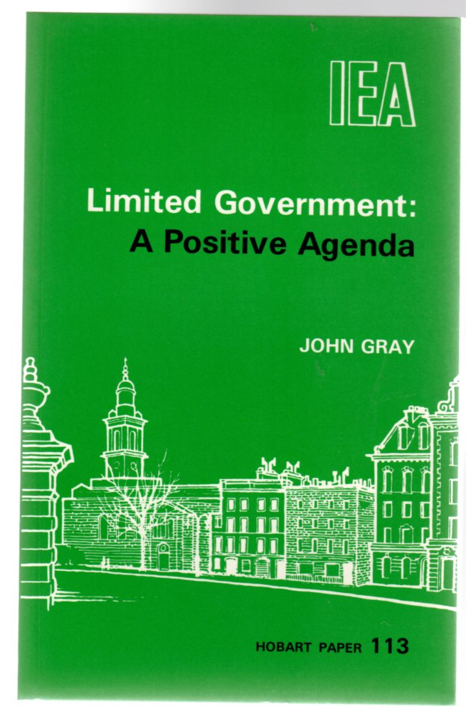 Image for Limited Government : A Positive Agenda