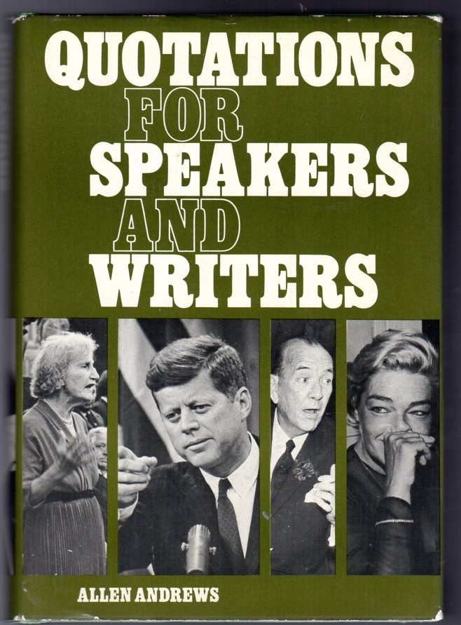 Image for Quotations for Speakers and Writers
