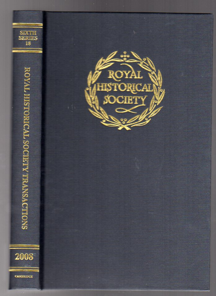 Image for Transactions of the Royal Historical Society: Volume 18: Sixth Series: v. 18