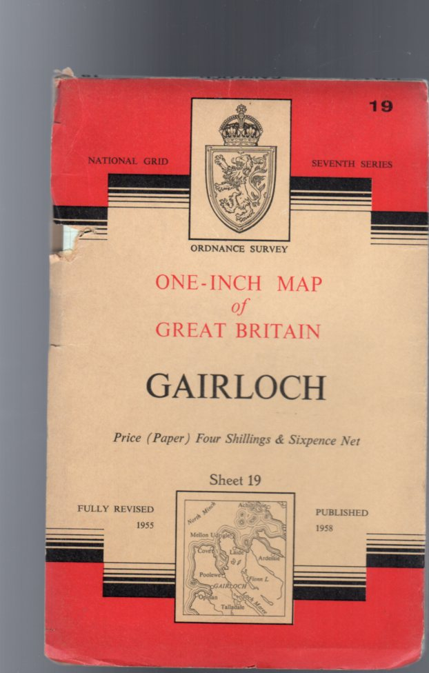 Image for Ordnance Survey  One-Inch Map of Great Britain  - Gairloch Sheet 19