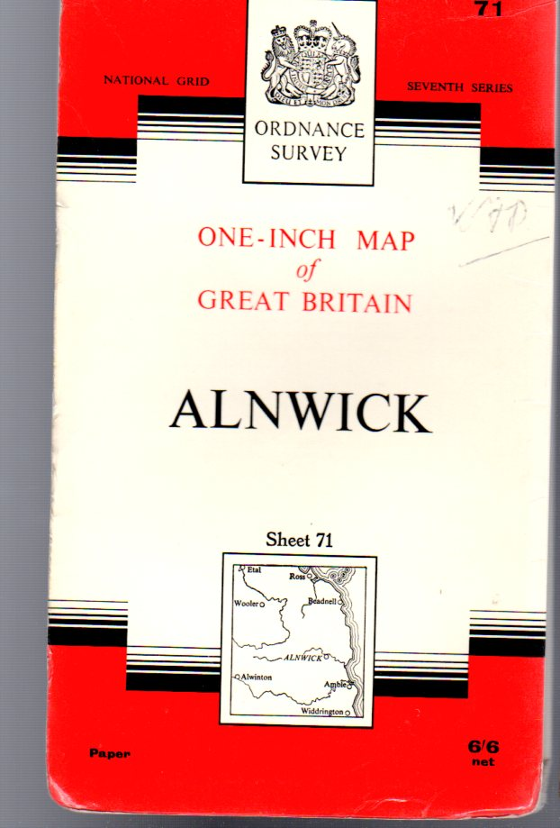 Image for Ordnance Survey  One-Inch Map of Great Britain -  Alnwick Sheet 71