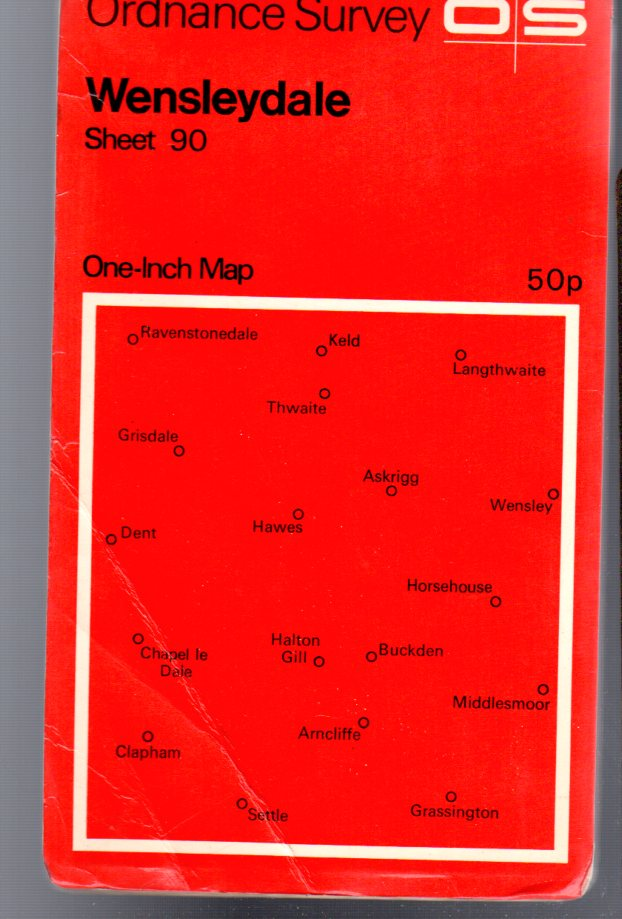 Image for Ordnance Survey  One-Inch Map - Wensleydale - Sheet 90