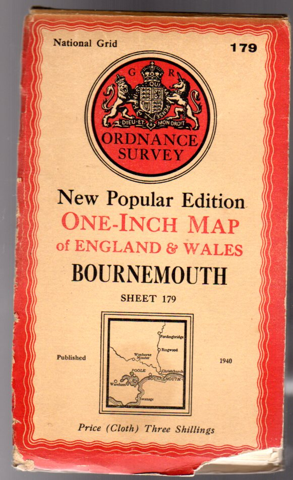 Image for Ordnance Survey  One-Inch Map of England & Wales - Sheet 179 Bournemouth