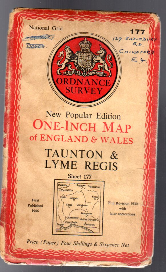 Image for Ordnance Survey  One Inch Map of England & Wales -  Sheet 177 - Taunton & Lyme Regis