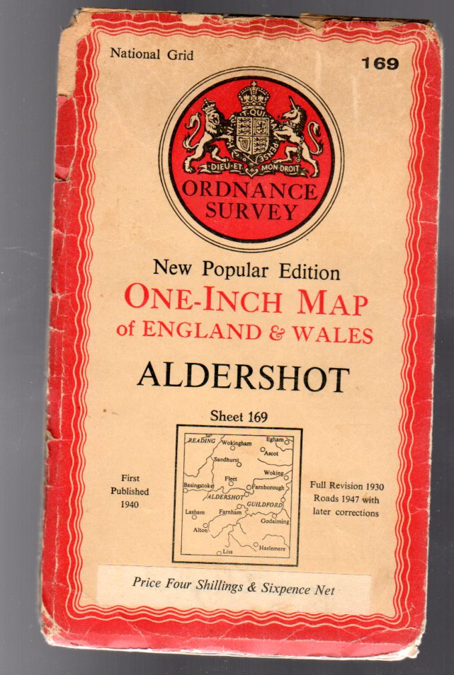 Image for Ordnance Survey  One-Inch Map of England & Wales - Sheet  169 Aldershot
