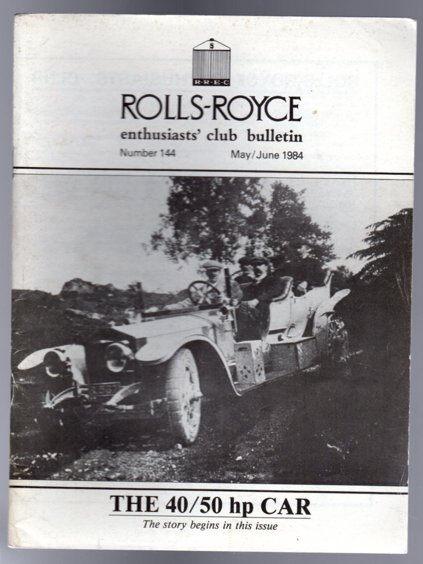 Image for Rolls-Royce Enthusiasts Club Bulletin No 144 May/June 1984