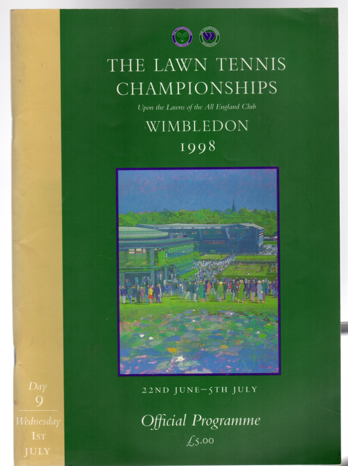 Image for Wimbledon  Official Souvenir Programme 1998 Day 9 Wednesday 1st July