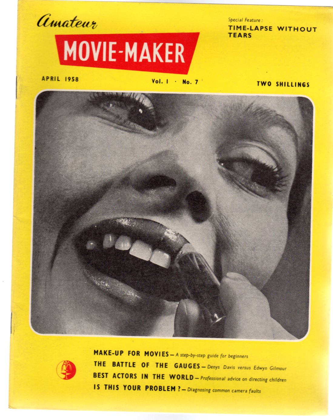 Image for Amateur Movie Maker Vol. 1. No.7 - April 1958