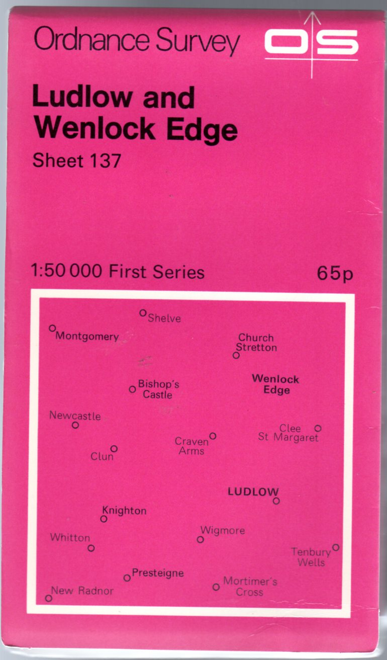 Image for Ordnance Survey Sheet 137 Ludlow and Wenlock Edge