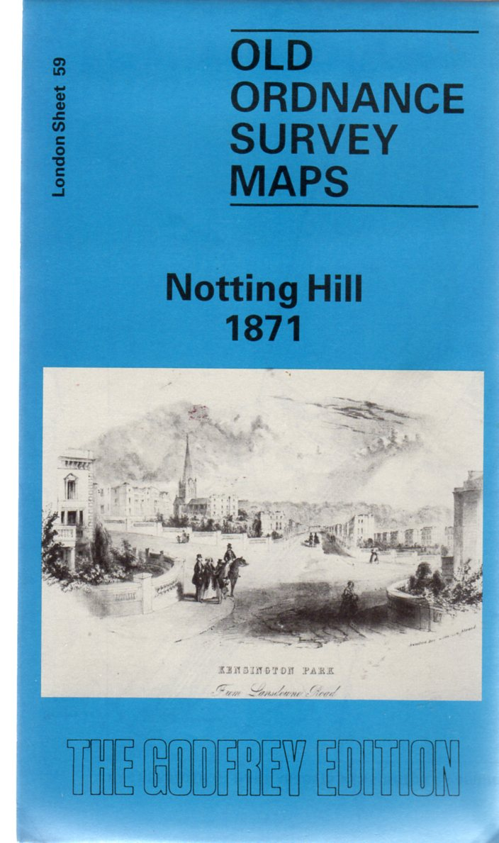 Image for Old Ordnance Survey Maps - London Sheet 59 Notting Hill 1871