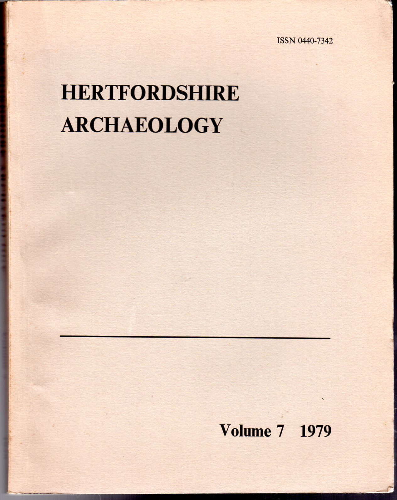 Image for Hertfordshire Archaeology : The Transactions of the St Albans and Hertfordshire Architectural and Archaeological Society and East Hertfordshire Archaeological Society  : Volume 7 - 1979